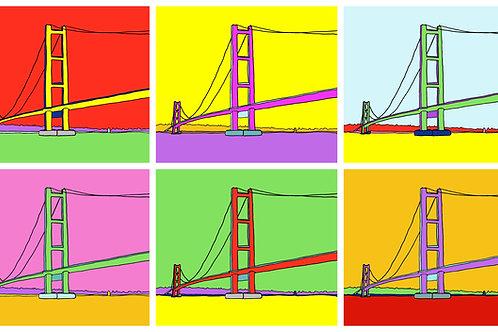 Humber Bridge (Hull) - 6 Image A3 Print