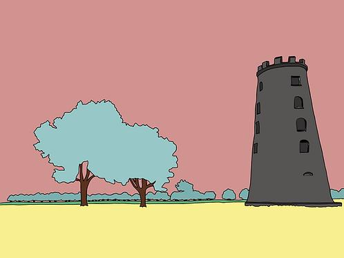 The Black Windmill (Beverley) - A3 Print