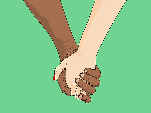 I Wanna Hold Your Hand (Green) - A3 Print