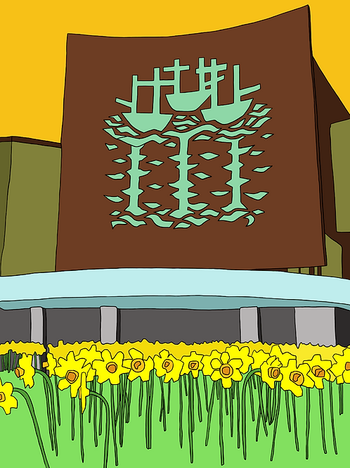 Flower Power (BHS Building, Hull) - A3 Print