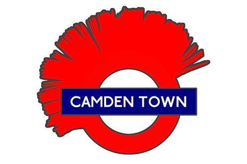 Camden Town Tube Sign on Brushed Aluminium - Alternative London Underground Sign