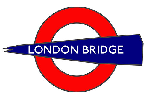 London Bridge A3 Giclee Print - Alternative London Underground Sign