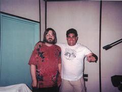 Jeff JJ Lisk and Eliud Velazquez Rodriguez recording Expresiones Caribenas at F&F Studio, Puerto Rico, 1999
