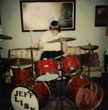 """Jeff """"JJ"""" Lisk at home, Chicago, IL, 1974"""
