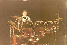 Jeff in concert at Horner Park, Chicago, IL, 1975