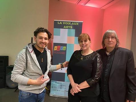 L'artiste Christian de la Luna avec Chantal et  Jeff JJ Lisk