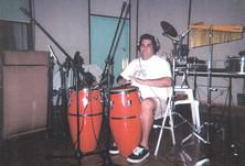 Eliud Velazquez Rodriguez recording Expresiones Caribenas at F&F Studio, Puerto Rico, 1999