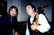 "Jeff ""JJ"" Lisk and Greg Abate (Alto sax soloist formerly with Ray Charles, Artie Shaw), Kosta's Supper Club, Madison, WI, 1998"