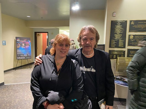Chantal Marie and Jack Semple visiting at Festival Place, Sherwood Park, AB, Jan 17, 2020