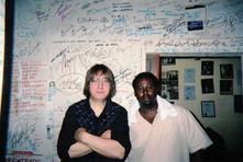 Jeff JJ Lisk and guitarist Eddie Taylor Jr. at YardBird Suite, Edmonton, AB