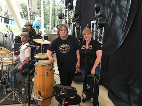 Jeff JJ Lisk and Chantal Marie at The Edmonton Rock Music Festival, Edmonton, AB, 2016