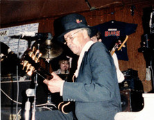 Jeff JJ Lisk and Homesick James Williamson at Blues on Halsted, Chicago, IL, 1985