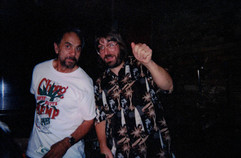 """Tommy Chong and Jeff """"JJ"""" Lisk at Kosta's Supper Club, Madison, WI, 1998"""