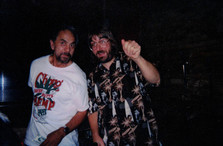 "Tommy Chong and Jeff ""JJ"" Lisk at Kosta's Supper Club, Madison, WI, 1998"