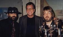 Mr. Blues, Tom Arnold, and Jeff 'JJ' Lisk at Kostas Supper Club, Madison, WI, 1999.