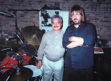 Alejo Poveda and Jeff JJ Lisk recording Expresiones Caribenas, Uber Studio, Chicago, IL, 1999