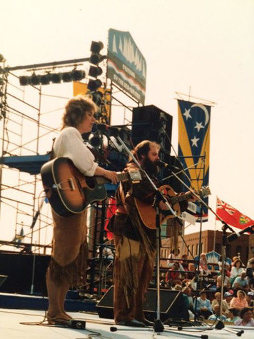 Chantal Marie and Rick Poltaruk at St. Johns by the Sea Festival, New Brunswick, 1982
