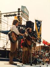 Chantal Marie and Rick Poltaruk at St. Johns by the Sea Festival, New Brunswick, 1982