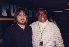 Jeff 'JJ' Lisk and Jabo Starks (James Brown, BB King, Bobby Blue Bland) at Drums and Moore. Madison, WI, 1998