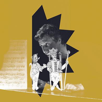 un roi_un chat_ un violon_carre _jaune.j