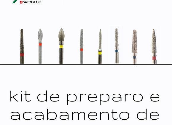 Kit de Preparo e Acabamento de Resina Jota ( 08 brocas diamantadas )