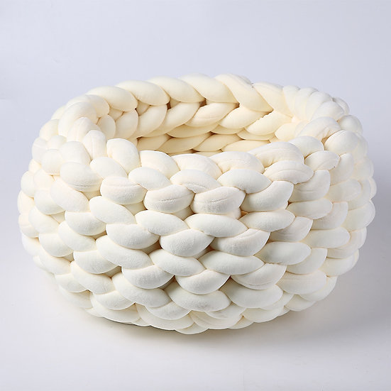 100% Natural Luxury Crochet Arm Knit Giant Chunky Cotton Tube Cave Pet B
