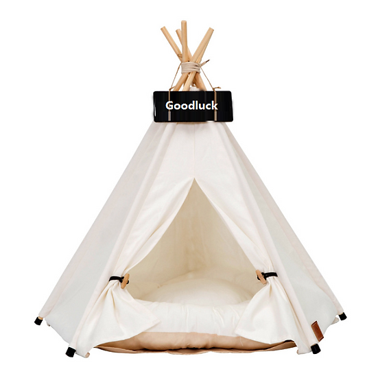 Luxury Soft Warm Foldable Teepee & Bed - Soft White
