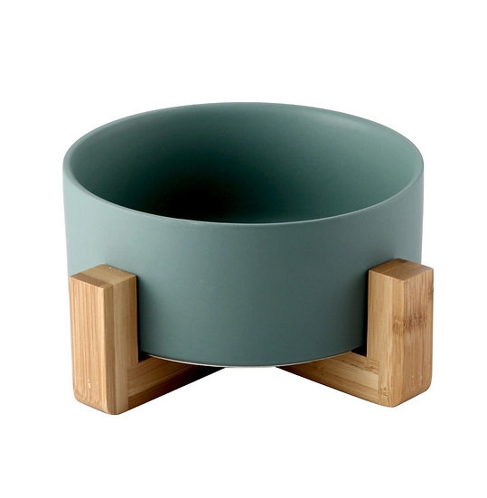 Japanese Design Ceramic Bowl with Wooden Frame