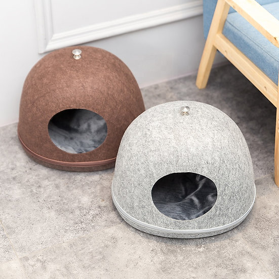 Eco-Friendly Egg Cave Shape Pet House & Bed