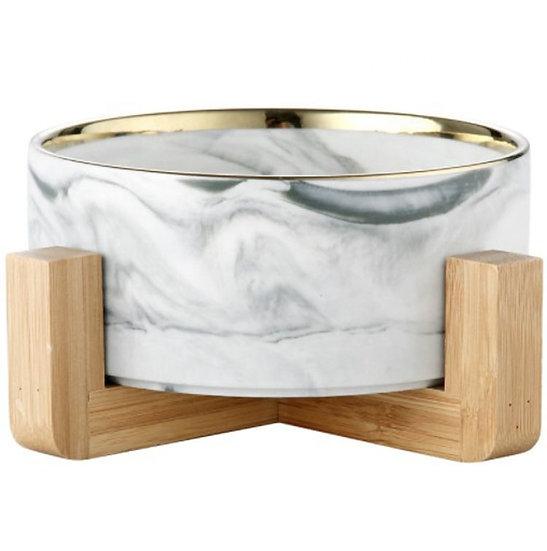 Japanese Design Marbel Bowl with Wooden Frame