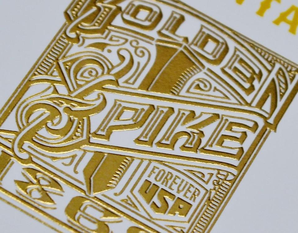 gold foil stamp  & embossed