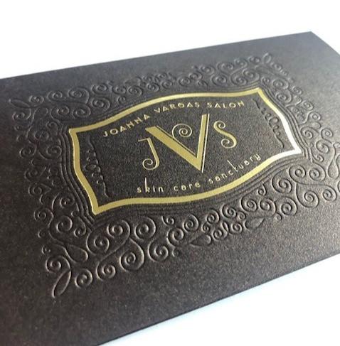 gold foil stamp plus deboss pattern