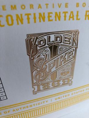 gold foil stamp & emboss