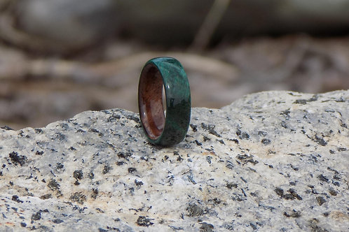 Dyed Wood and Walnut Crotch Ring