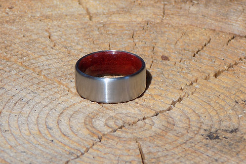 Bloodwood and Metal Ring