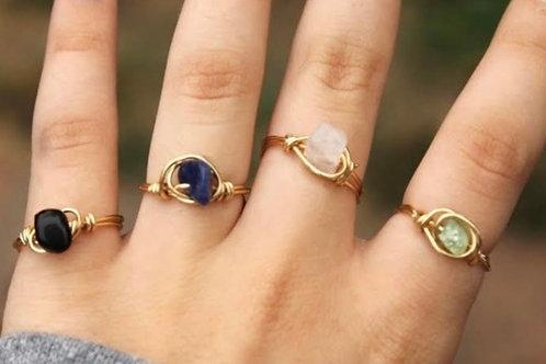 Simple Stone Rings