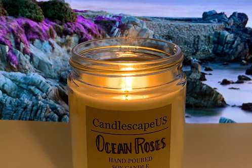 Ocean Roses Soy Candle