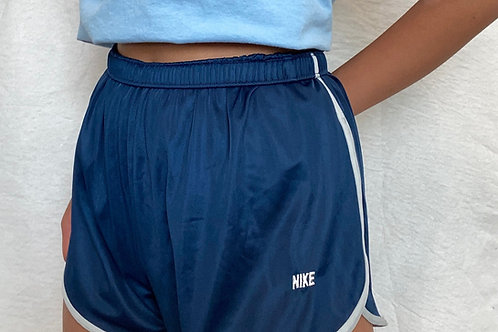 Nike Vintage Navy Running Shorts