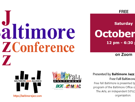 FREE Baltimore Jazz Conference - 10/17/2020