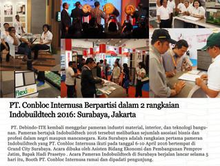 PT. Conbloc Internusa Berpartisi dalam 2 rangkaian Indobuildtech 2016: Surabaya, Jakarta