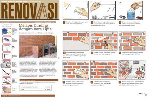 Melapis Dinding dengan Bata Tipis