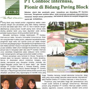 PT Conbloc Internusa, Pionir di Bidang Paving Block