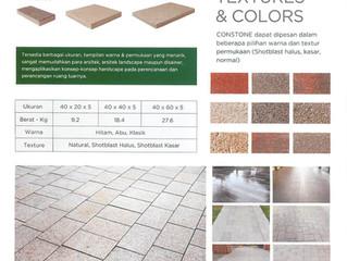 Constone memberikan tampilan pavement yang menarik, kreatif serta penuh estetika