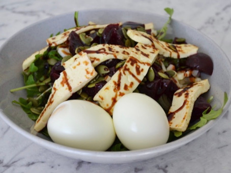 Beetroot & Haloumi Salad