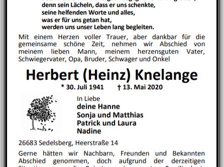 Herbert (Heinz) Knelange