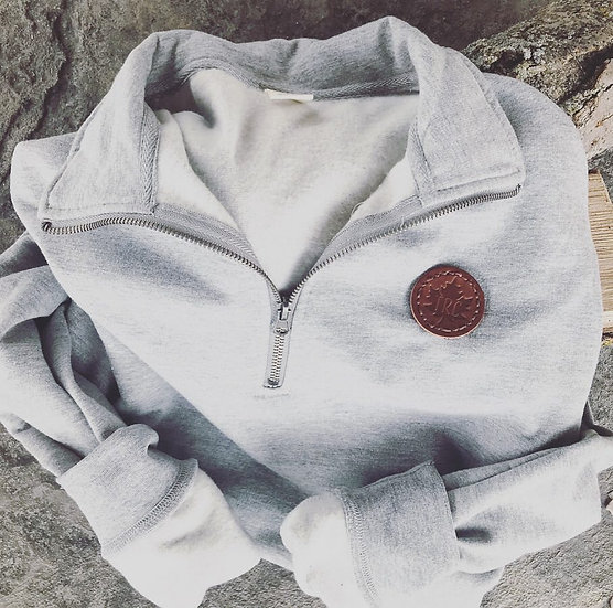 1/4 Zip TRC Co. Leather Patch Pullover
