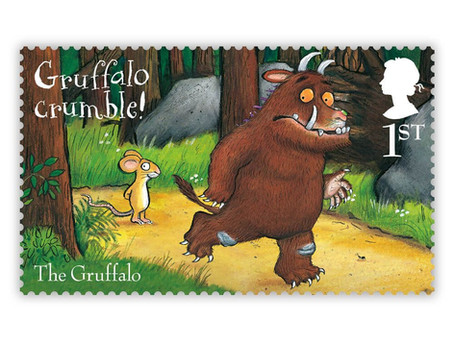 It's The Gruffalo's 20th birthday! And the Royal Mail have released ten special stamps to celebrate.