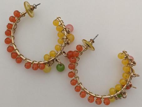 Refreshing Summer Earrings in Citrus Colors