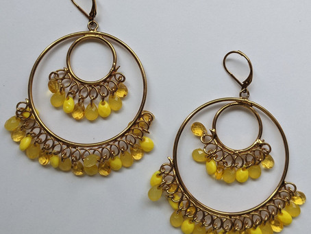 Big Earrings in the Colors of Fall