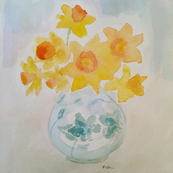 Daffodils in a ginger Jar